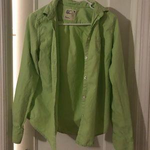 American Eagle - Lime Green button down shirt